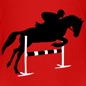riding, horse, equestrian Skjorter - Premium T-skjorte for barn