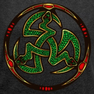 Serpent Triskellion T-Shirts - Women's T-shirt with rolled up sleeves