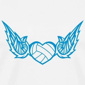 volleyball waterpolo wing logo 2804 T-Shirts - Men's Premium T-Shirt