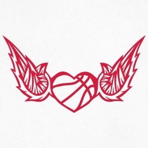 basketball wing logo 2804 T-Shirts - Men's V-Neck T-Shirt