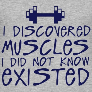 discovered muscles did not existed  T-Shirts - Men's Slim Fit T-Shirt