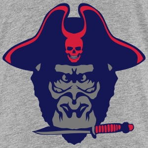 Gorilla hat pirate knife  Shirts - Teenage Premium T-Shirt