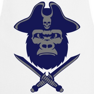 Gorilla hat pirate knife 5  Aprons - Cooking Apron