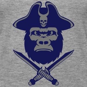 Gorilla Piratenhut Messer Dolch Tops - Frauen Premium Tank Top