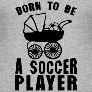 soccer landau born player to be T-Shirts - Männer Slim Fit T-Shirt