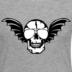 Wing bald skull bat 0 Long Sleeve Shirts - Women's Premium Longsleeve Shirt