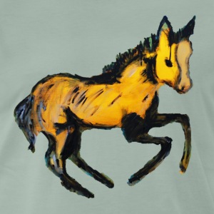 Pony on Canvas - Männer Premium T-Shirt