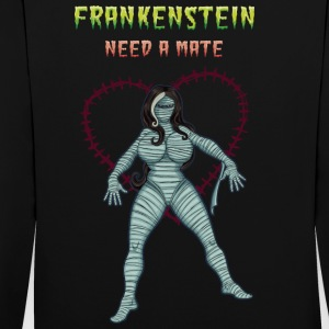 Frankenstein Need a Mate, Pandora Gothic Version. - Contrast Colour Hoodie