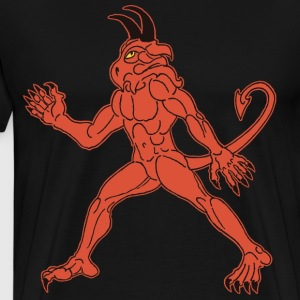demon red T-skjorter - Premium T-skjorte for menn