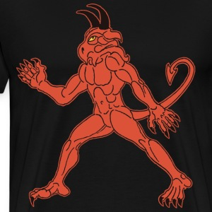 The Red Demon in the Black Night. - Men's Premium T-Shirt