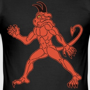 demon red T-shirts - Herre Slim Fit T-Shirt