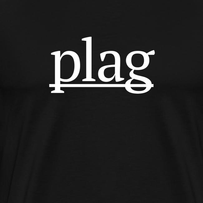Plag White on Black