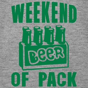 weekend of pack beer alcool quote Tops - Women's Premium Tank Top