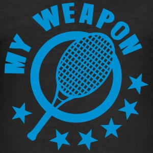 Racket tennis my weapon 1 T-Shirts - Men's Slim Fit T-Shirt