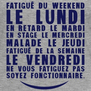 fatigue lundi retard stage malade Manches longues - T-shirt manches longues Premium Femme