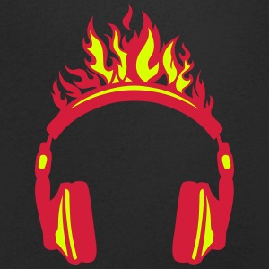 casque audio flamme flame 2004 Tee shirts - T-shirt Homme col V