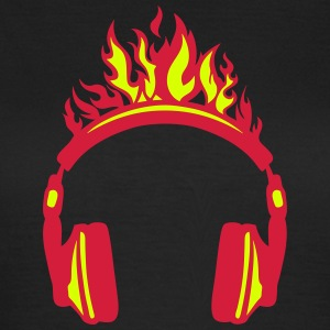 Headphones flame fire music 2004 T-Shirts - Women's T-Shirt