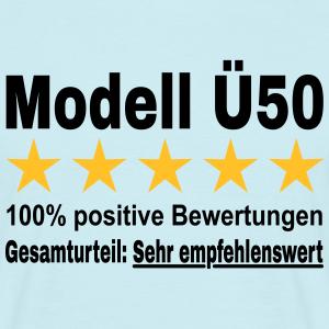 """Geburtstag T-Shirts mit """"Modell Ü50"""""""