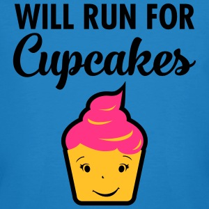 Will Run For Cupcakes T-skjorter - Økologisk T-skjorte for menn