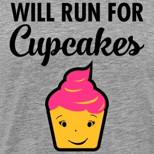 Will Run For Cupcakes T-Shirts - Men's Premium T-Shirt
