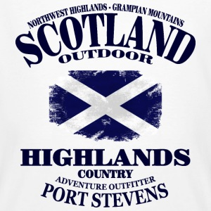 Highlands - Scotland Vintage Flag T-Shirts - Männer Bio-T-Shirt
