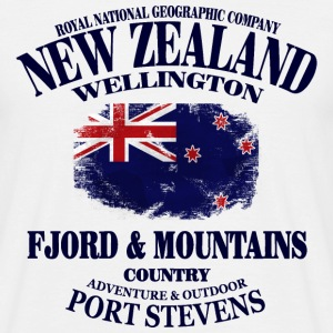 Fjord & Mountains - New Zealand Vintage Flag T-Shirts - Männer T-Shirt
