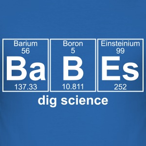 BABES dig science - text can be changed - Men's Slim Fit T-Shirt