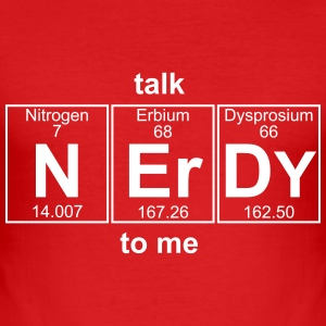 talk NERDY to me - text can be changed - Men's Slim Fit T-Shirt