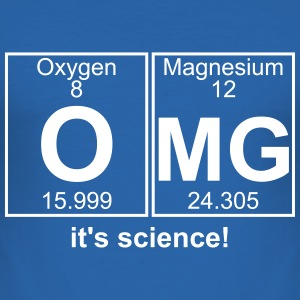 OMG it's science - text can be changed - Men's Slim Fit T-Shirt