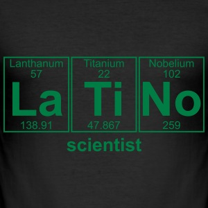 LATINO scientist - text can be changed - Men's Slim Fit T-Shirt