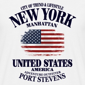 New York  - USA Vintage Flag T-Shirts - Männer T-Shirt