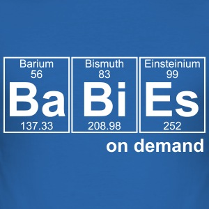 BABIES on demand - text can be changed - Men's Slim Fit T-Shirt