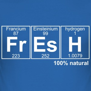 FRESH 100% natural - text can be changed - Men's Slim Fit T-Shirt