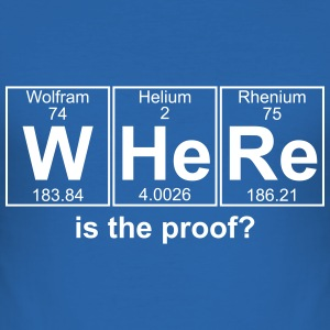 WHERE is the proof? - text can be changed - Men's Slim Fit T-Shirt