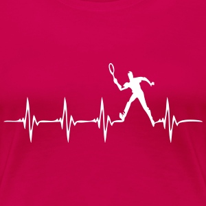 Heartbeat - Tennis - Frauen Premium T-Shirt