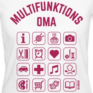 Multifunktions Oma (16 Icons) T-Shirts - Frauen Bio-T-Shirt