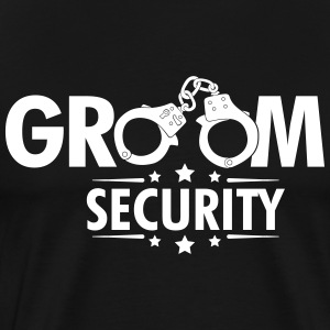 Groom Security T-skjorter - Premium T-skjorte for menn