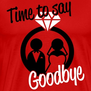 Time to say goodbye T-shirts - Mannen Premium T-shirt