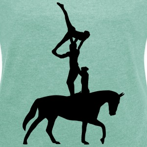equestrian vaulting T-Shirts - Women's T-shirt with rolled up sleeves