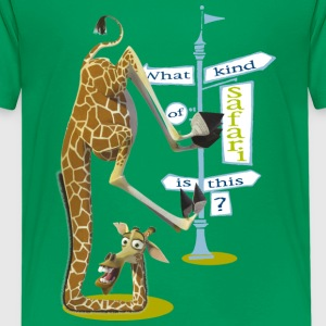 Madagascar Melman What kind of safari Teenager T-S - Teenage Premium T-Shirt