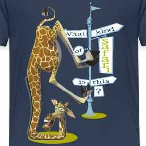 Madagascar Melman What kind of safari Kid's T-Shir - Kids' Premium T-Shirt