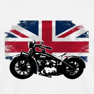 Motorcycle - Union Jack - UK Vintage Flag T-Shirts - Männer Premium T-Shirt