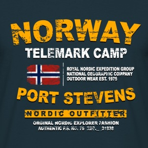 Norway - Norge - Norwegen - Vintage Flag T-Shirts - Männer T-Shirt
