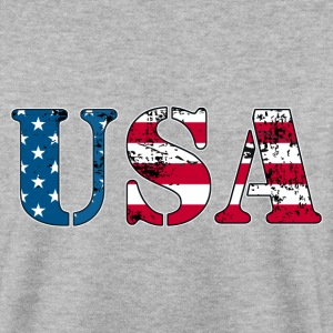 USA flag grunge style  Sweat-shirts - Sweat-shirt Homme