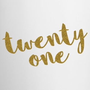 Twenty One / 21 Glitter Birthday Quote Mukit ja tarvikkeet - Muki