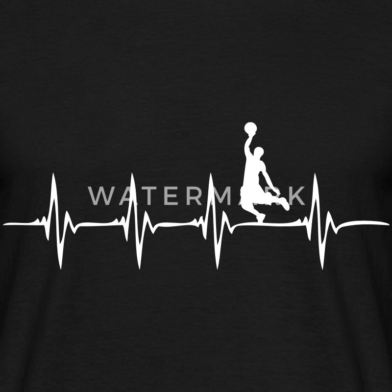 Heartbeat - Basketball - Männer T-Shirt