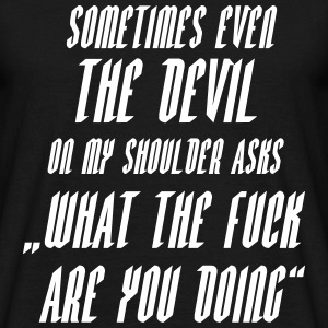 devil asks wtf T-shirts - Mannen T-shirt