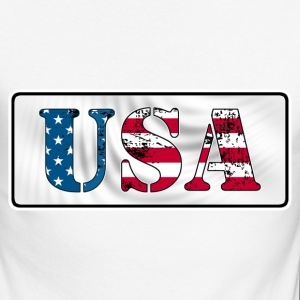 USA flag grunge style  Manches longues - T-shirt baseball manches longues Homme