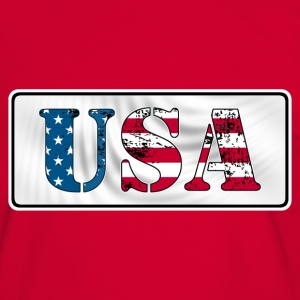 USA flag grunge style  Tee shirts - T-shirt contraste Homme