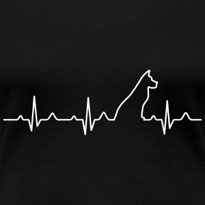 Dog Heartbeat 2 T-Shirts - Frauen Premium T-Shirt